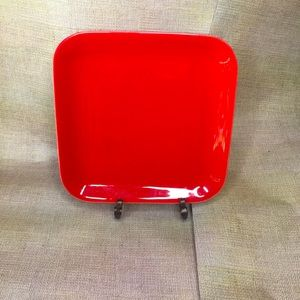 Beautiful red square serving platter/plate